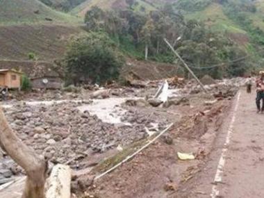 Derrumbe en Guatemala